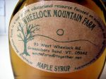 Wheelock Mountain Farm maple syrup