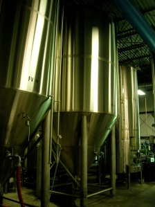 Fermenting tanks at Allagash Brewery