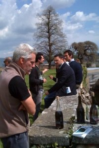 Outdoor tasting with Frank Cornellisson at Vin Natur