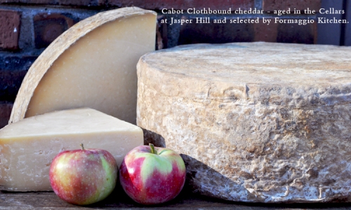 Cabot Clothbound cheddar and heirloom apples