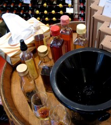 Tasting vinegar with Philippe Gonet