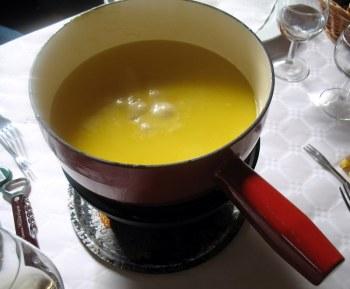 Comté fondue at Marcel Petite