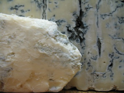 Gorgonzola Dolce (front) and Gorgonzola Piccante (rear)