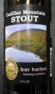 Bar Harbor Brewery Cadillac Mountain Stout