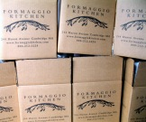 Formaggio Kitchen boxes ready for packing