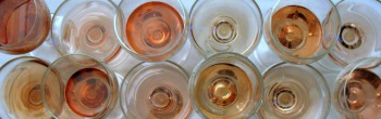 All the rosés in glasses