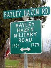 Bayley Hazen Road Sign