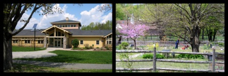 Boston Nature Center (left) and Clark Cooper Community Gardens (right).