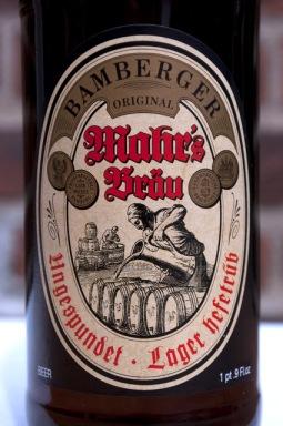 Mahrs Bräu - Ungespundet - Lager Hefetrüb Label