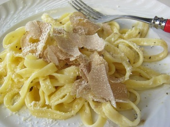 Fettucine with White Truffle and Parmigiano Reggiano at Giorgio Cravero's Dinner