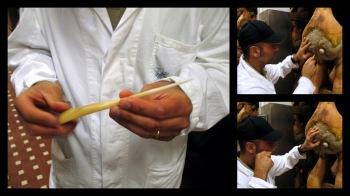 Testing Pio Tosini Prosciutto with a Horse Bone