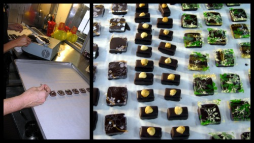 EH Chocolatier: Assembly Line - Applying Transfers to Chocolates