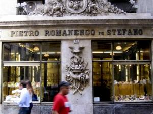 Storefront of Pietro Romanengo in Genova