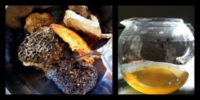 Hydrating Dried Mushrooms - Hedgehog Chanterelles, Morels and Black Trumpets