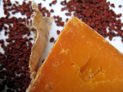 Red Leicester and Annatto Seeds