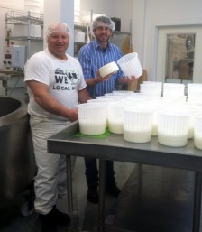 Stan Biasini and Brad at Mt. Mansfield Creamery