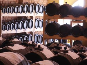 Battery of Barrels used to age balsamic