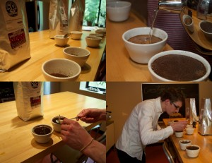 "Coffee ""cupping"""