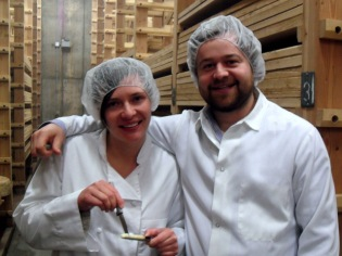 Zoe of Jasper Hill and Tripp of Formaggio Kitchen