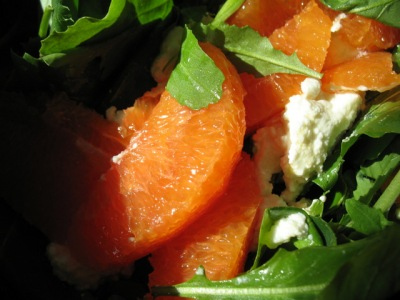 Ricotta, Arugula + Orange Salad