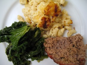 A Dinner by Chef Eduardo: Mac and Cheese, Pork Meatloaf and Kale