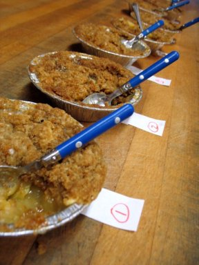 Apple Crisp Blind Taste Test