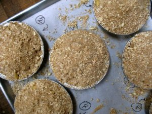 Apple Crisps Going into the Oven