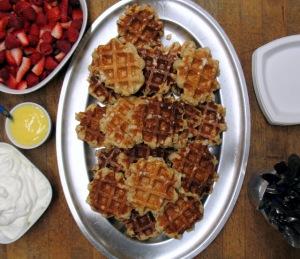 A waffle spread!