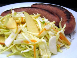 Arrowhead Cabbage Salad with Kielbasa