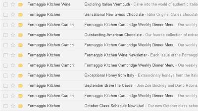 Formaggio Kitchen E-mails