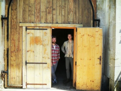 Tripp and Andrew at Fromageries Marcel Petite