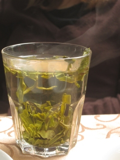 Drinking Longjing Tea in Hangzhou
