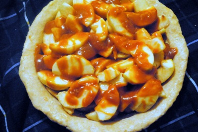 Apple Caramel Pawlet Cheese Pie