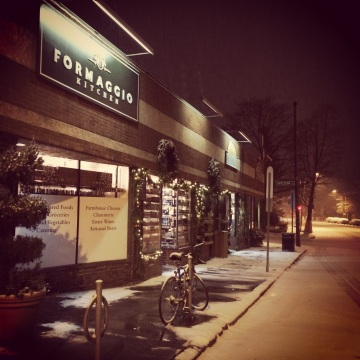 A Snowy Night at Formaggio Kitchen