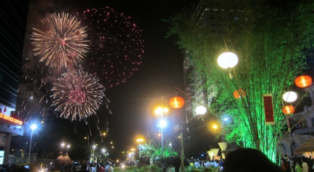 Midnight Fireworks for Lunar New Year