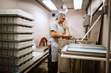 Brian Civitello Making Cheese