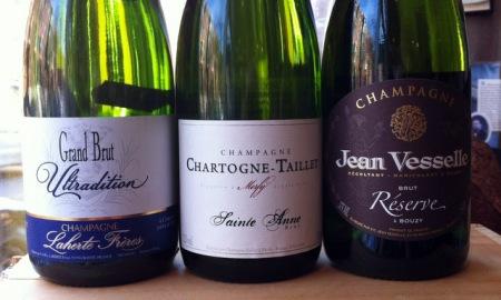 Laherte Fréres, Chartogne-Taillet and Jean Vesselle Half Bottle Champagne