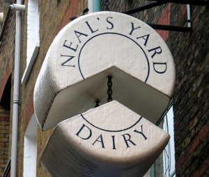 Neal's Yard Dairy Sign