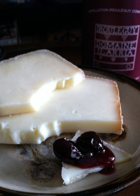 Irouleguy Wine, Brebis and Arraya Tart Cherry Jam