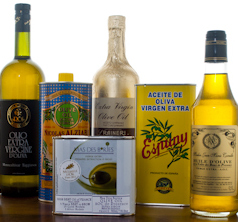A selection of our olive oils