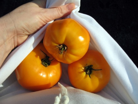 Big Orange Tomatoes - Red Fire Farm