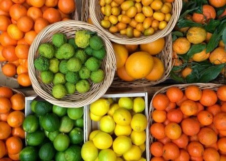 Citrus - lemons, limes, tangerines, oranges and kumquats