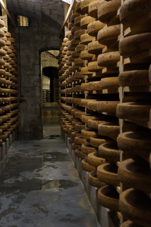 Inside the Fort - A more cavernous aging room. Each room has a different humidity level and temperature to maximize the flavor of each cheese.