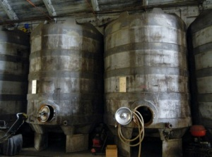 Vallana's fermentation tanks