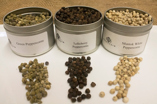 Green, Black and White Peppercorns