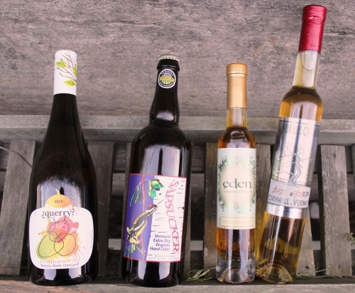New ciders for 2015! Bonny Doon Vineyard's Querry, Flag Hill Farm's Sapsucker, and Eden Ciders' Honeycrisp and Windfall Ice Cider.